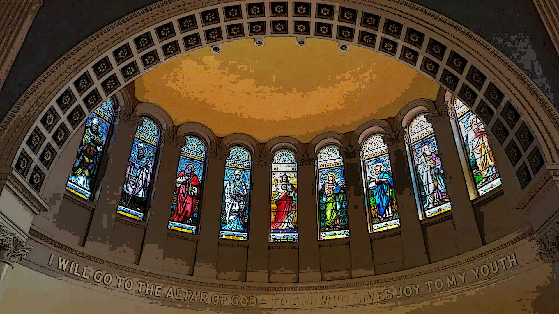 St John Gualbert Cathedral Arch Johnstown PA
