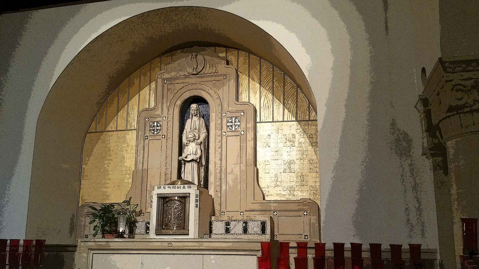 Chapel of St Ann at St John Gualbert Cathedral Johnstown PA
